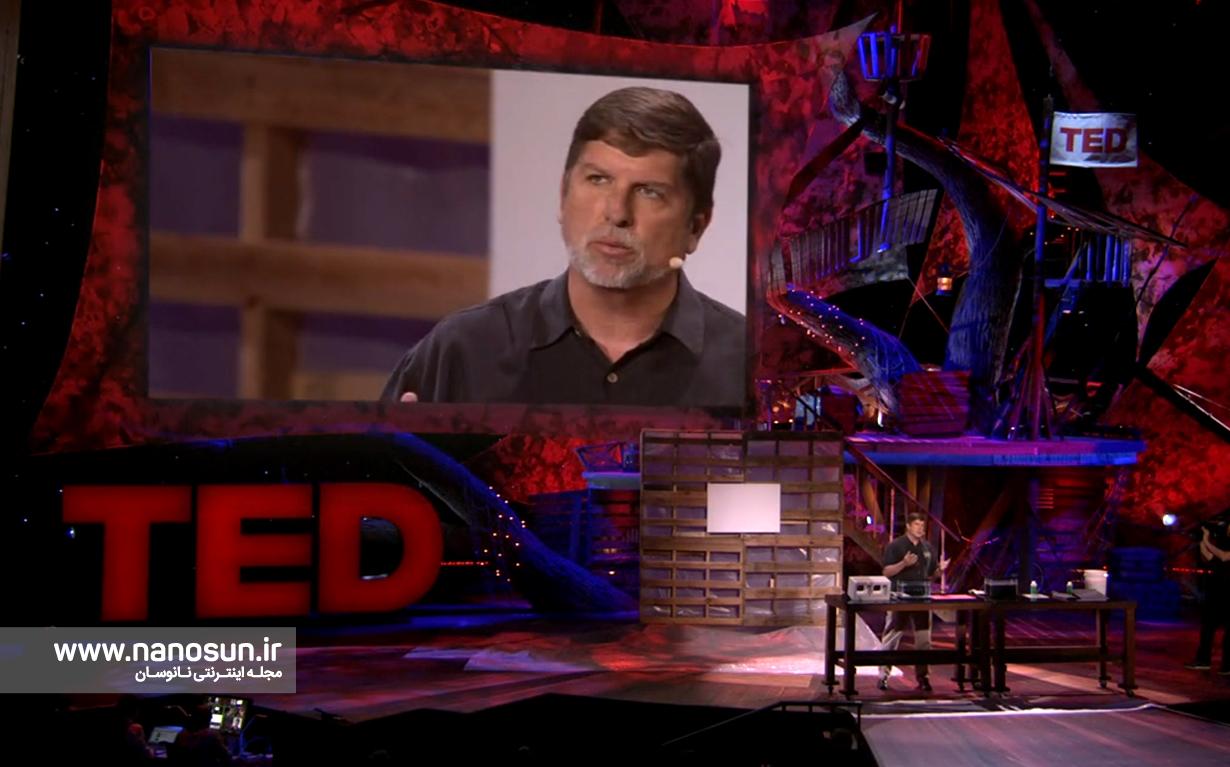 نمایشی از نانوپوششهای فوق آبگریز در سخنرانی Mark Shaw