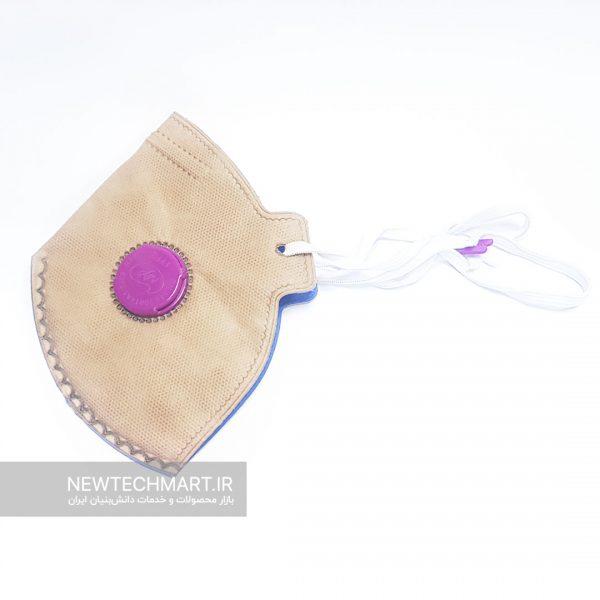 ماسک تنفسی N95 سوپاپدار ترمه (دارای فیلتر کربن فعال) - FFP2
