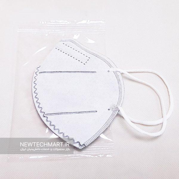 ماسک تنفسی نانویی N95 بدون سوپاپ نانوما اسکای - FFP2