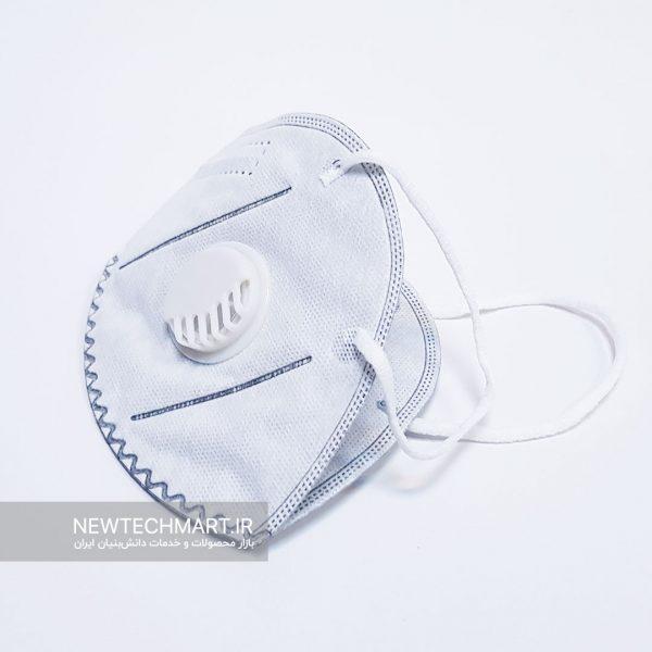 ماسک تنفسی نانویی N99 گرینلایف سوپاپدار - FFP3 (مجهز به فیلتر کربن فعال - مدل کش پشت گوش)