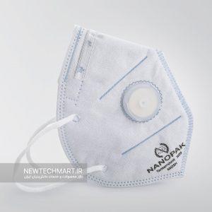 ماسک تنفسی نانویی N99 سوپاپدار نانوپاک (مدل کش پشت گوش)