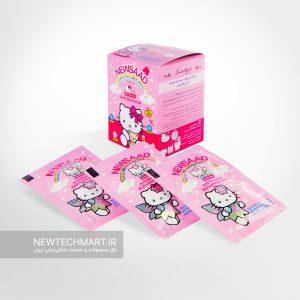 بسته ۱۲ عددی دستمال مرطوب آنتیباکتریال دست و صورت - طرح نوجوان (دخترانه)