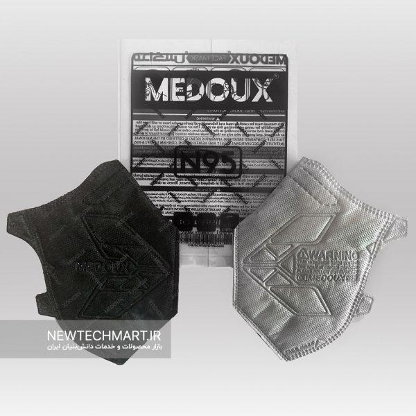 ماسک تنفسی N95 مداکس بدون سوپاپ کربن پلاس سایز متوسط (دارای فیلتر کربن فعال)