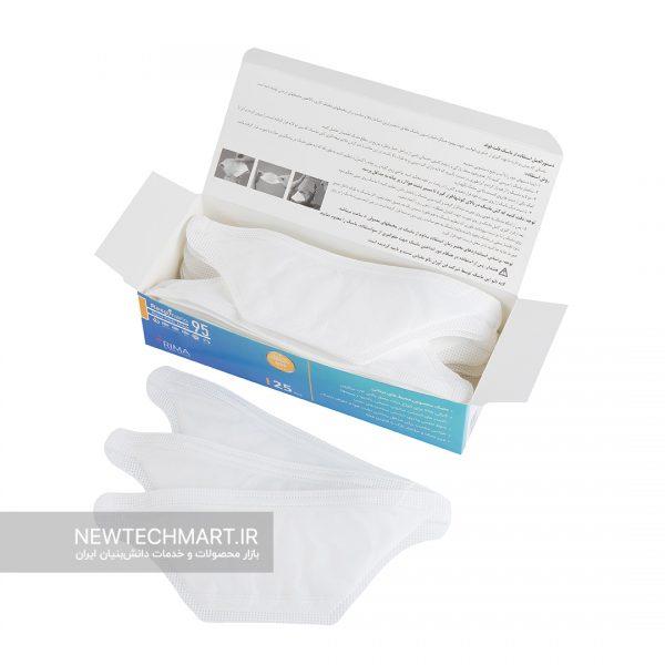 بسته ۲۵ عددی ماسک تنفسی نانویی N95 رسپینانو – مدل Flat Fold
