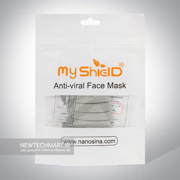 ماسک کودک پارچهای قابلشستشوی ضدویروس و باکتری با الیاف نقره مایشیلد (MyShield) - رده سنی ۲ تا ۵ سال (ماسک نانوسینا)