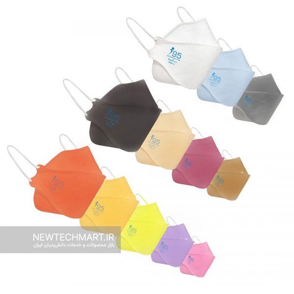 بسته ۲۵ عددی ماسک سه بعدی نانویی N95 بزرگسال رسپینانو – مدل ماهی ریما (Fish type)