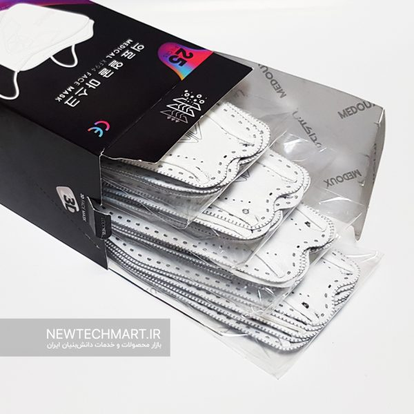 بسته ۲۵ عددی ماسک سهبعدی KF94 مداکس (MEDOUX 3D KF94)