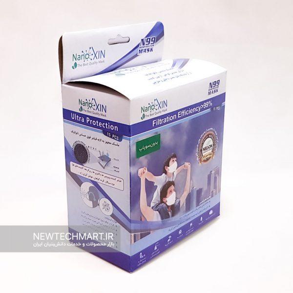 ماسک تنفسی نانویی N99 بزرگسال نانوکسین بدون سوپاپ