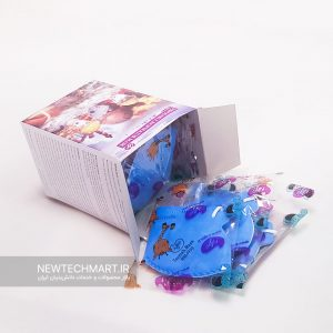 بسته ۱۵ عددی ماسک تنفسی N95 کودکان بدون سوپاپ ترمه – FFP2 (رنگ آبی)